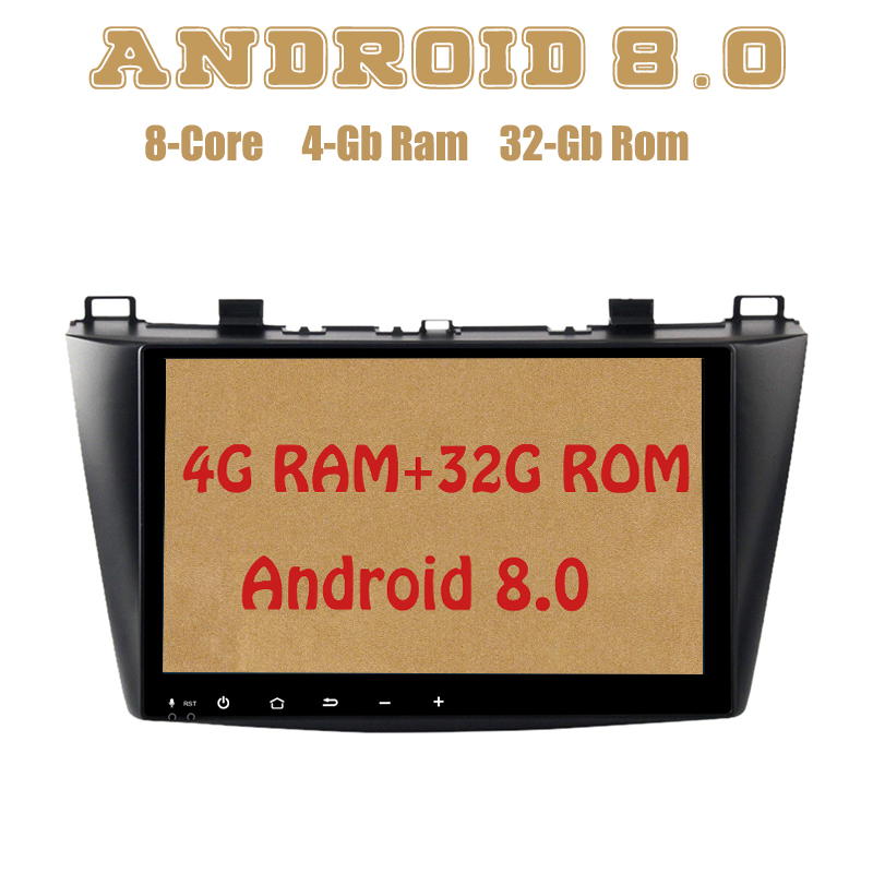 Octa core PX5 Android 8.0 car radio gps player for Mazda3 mazda 3 2010-2013 with 4G RAM 32G ROM wifi 4g usb 4g sim lte quad core android 6 0 for mazda 3 mazda3 2004 2009 car dvd player non dvd gps navi radio wifi 4g bt 2gb ram 16g rom