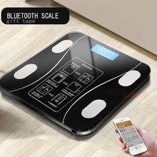 AIWILL светодио дный бытовой светодиодный цифровой Вес Ванная комната баланс Bluetooth Android или IOS средства ухода за кожей жира весы пол научный Смарт электронн