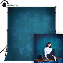 Allenjoy Thin Vinyl cloth photography Backdrop blue Indoor photography background cloth computer print can customized MH-079 цены