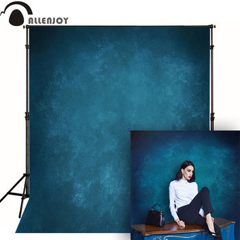 Allenjoy Thin Vinyl cloth photography Backdrop blue Indoor photography background cloth computer print can customized MH-079