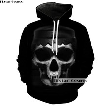 PLstar Cosmos hooded Fashion Men/women hoodies Skull 3d Printed Harajuku Streetwear Womens Sweatshirts Coats Tracksuits
