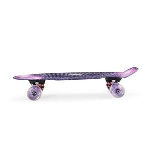 "Image 4 - Grafische Gedrukt Skateboard Galaxy Paars Blauw Plastic Mini Cruiser Board 22 ""X 6"" Retro Longboard Skate Board"