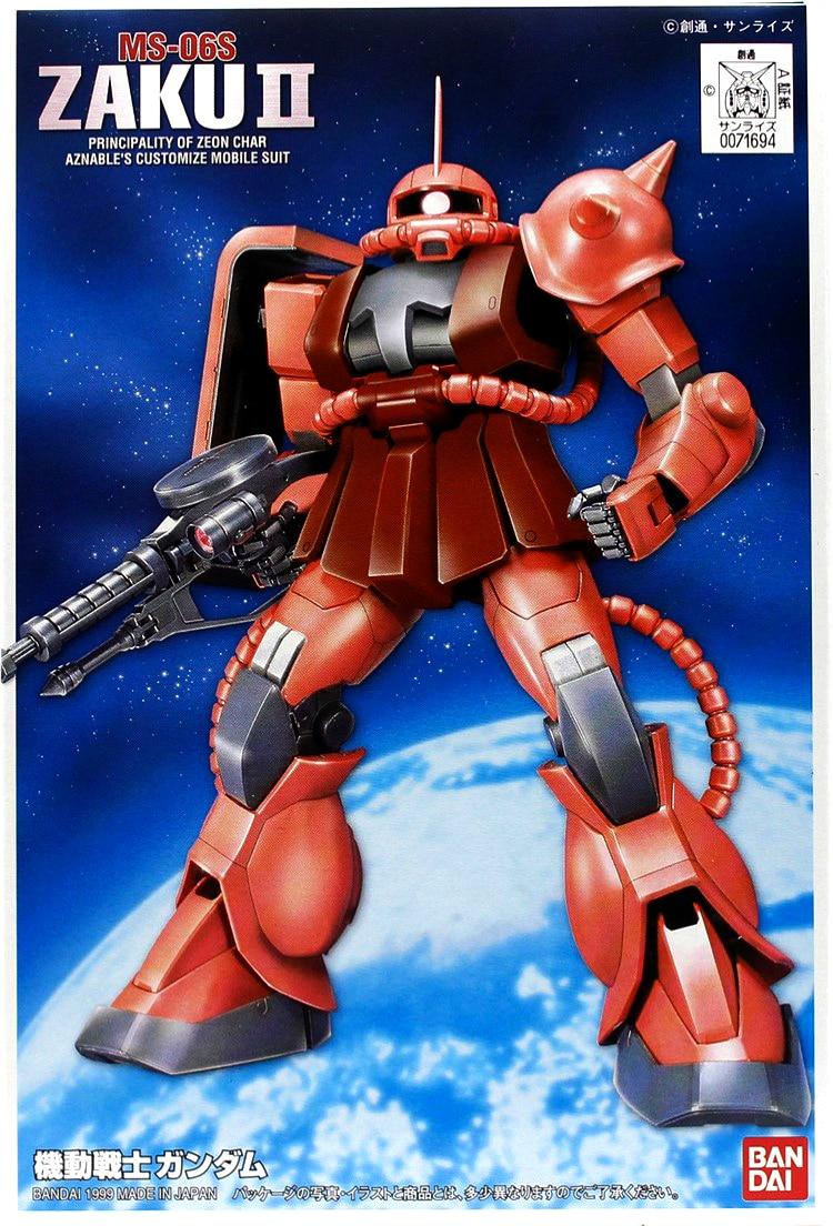 Bandai 1:144 Scale Model FG 02 SEED DESTINY 1/144 Gundam Red Robot Zaka MS-06S Modelismo Assembly Model Kits Toys For Children