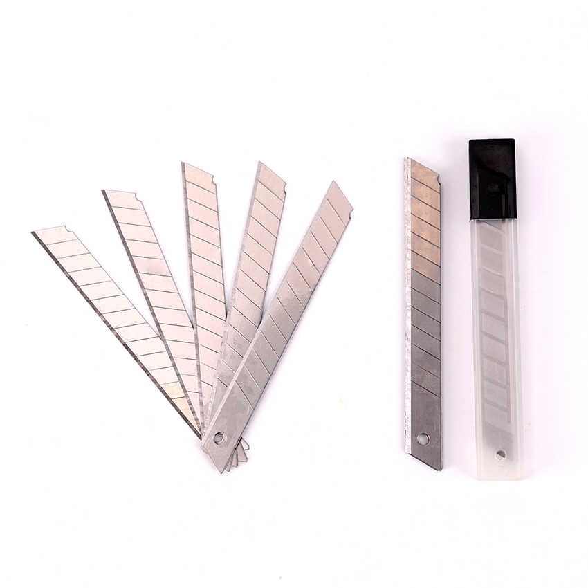 silver Durable TENWIN 6204 10pcs//set Office School Students Art Blades Trimmer 9MM