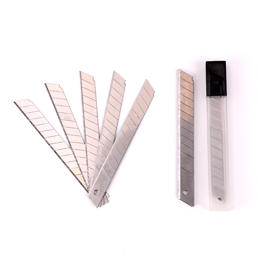 10PCS Office Stationery Cutter Blade With Art Student Supplies Silver Utility Knife Sharp And Durable Blade