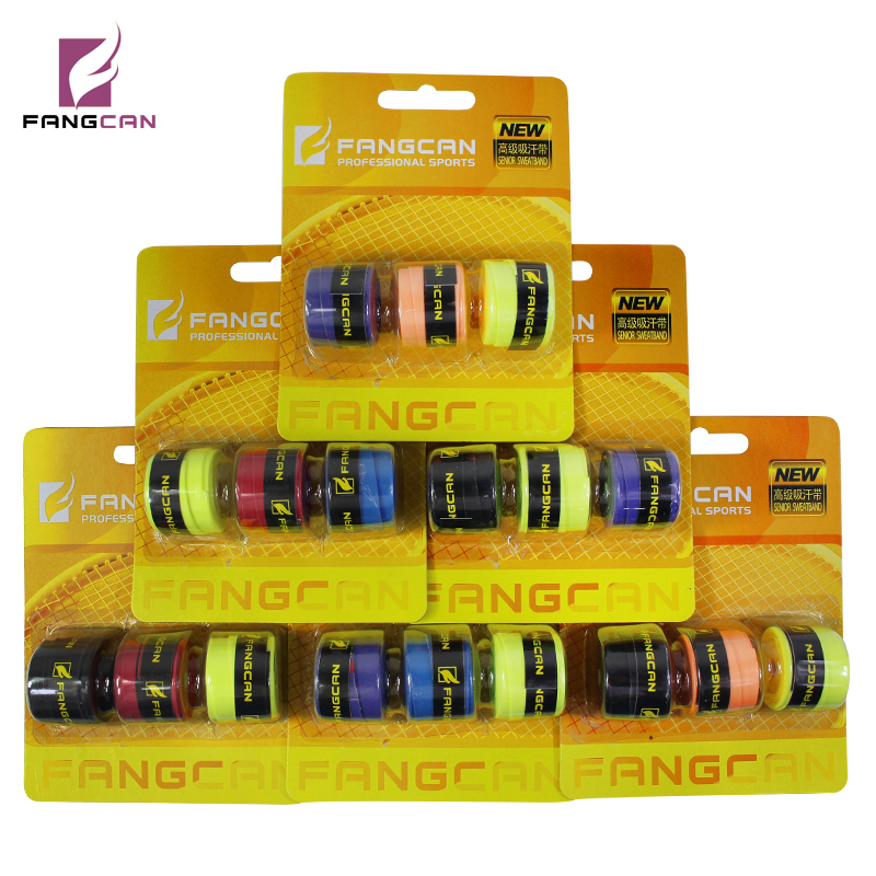 1 pack Random Color FANGCAN FCOG-05 Tennis Racket Overgrip Sticky Card Pack Glossy Film Overgrip Badminton Racket Grip