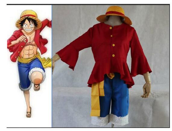 Us 29 69 10 Off Free Shipping Cosplay One Piece Costumes One Piece Monkey D Luffy Cosplay Set T Shirt Pants Hat Yellow Belt On Aliexpress