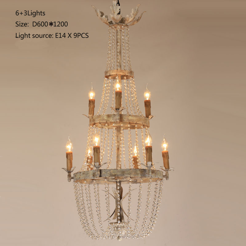 Shopcase Brown Rustic Long Vintage Chandelier Crystal Lighting Retro Antique Dining Room Chandeliers For Castle Led Candelabro In From Lights