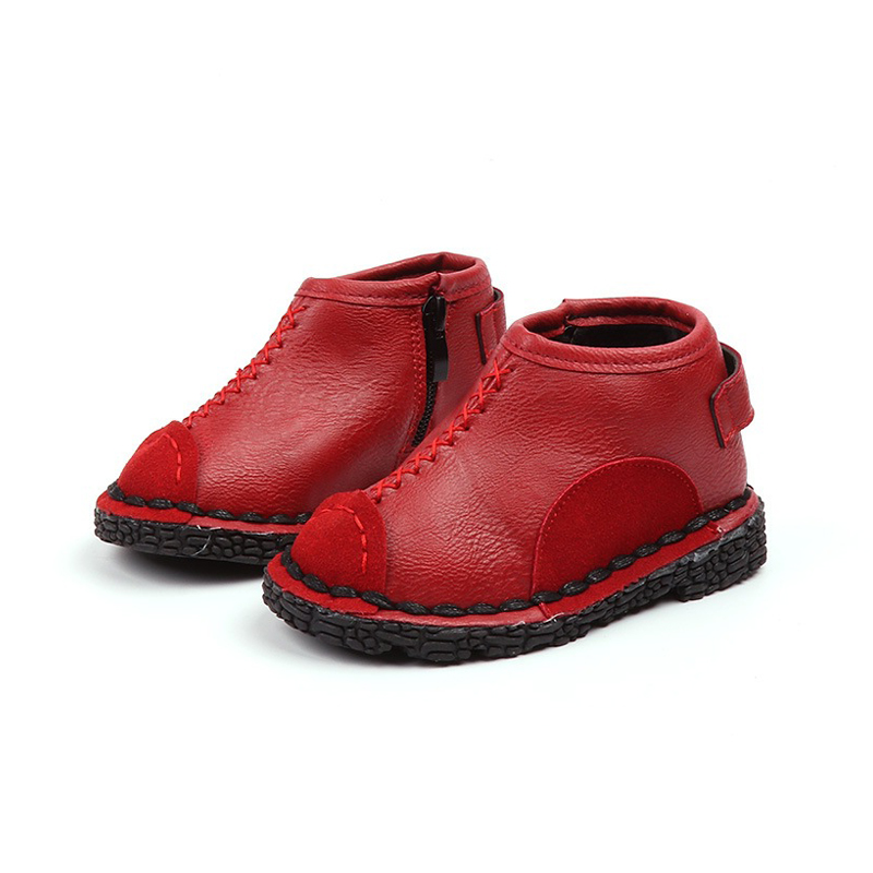 Girls Boots Autumn Winter Children Boots Boys Fashion Warm Baby Shoes Children Sneakers Waterproof Kids Boys Leather Shoes
