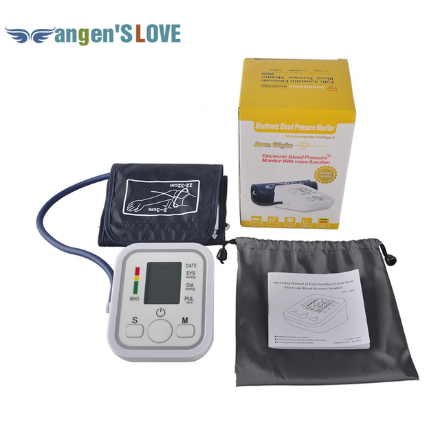 Electronic Portable Digital Blood Pressure Monitor Pumps Device Apparatus For Gauge Heart Rate Medical Tonometer YR-B02B-V