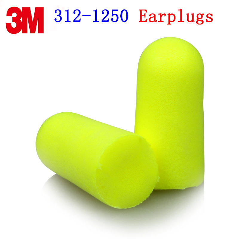 3M 312-1250 Bullet type earplugs Genuine security 3M Protective earplugs Sleep jobs Learn Anti-noise earplugs цена