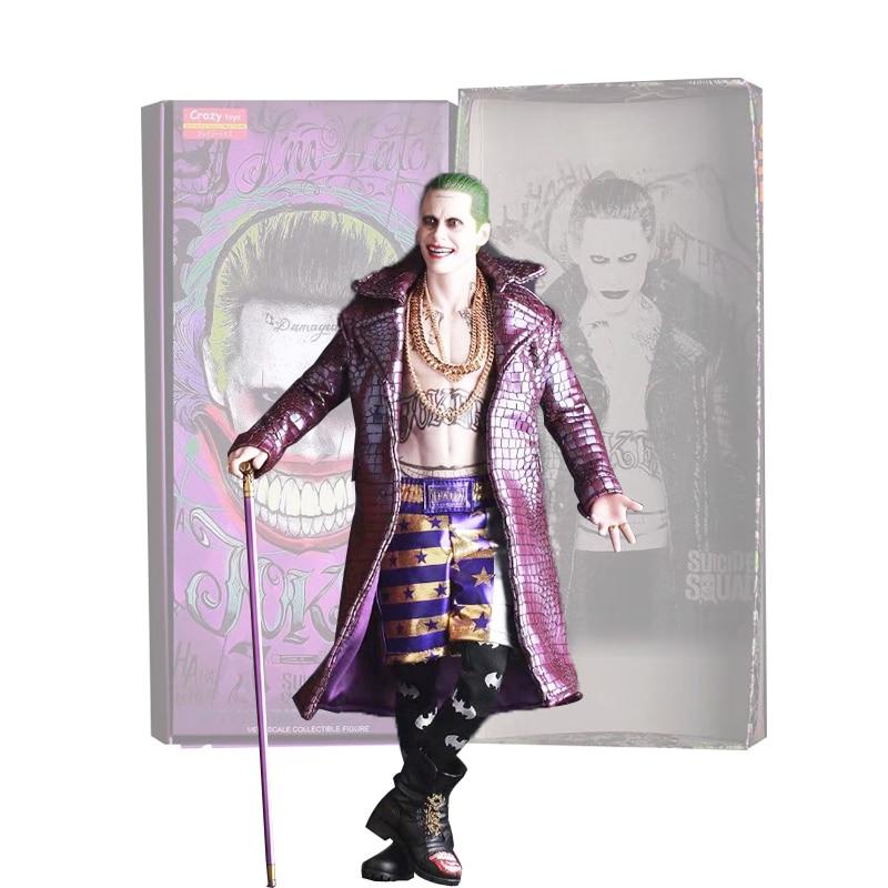 Crazy Toys Suicide Squad Harley Quinn The Joker Batman Imposter Version PVC Action Figure Toy ynynoo crazy toys joker suicide squad x dutch act team harleen quinzel harley quinn batman deadshot pvc action figure model 30cm