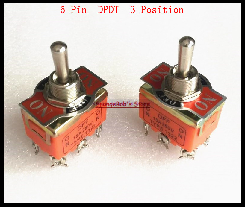 Lights & Lighting 5pcs/lot 6-pin Dpdt 3 Position On-off-on 15a 250vac Toggle Switch 1322 Miniature Toggle Switches A Wide Selection Of Colours And Designs