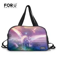 Wholesale 3D Unicorn Galaxy Print Luggage Bag 3D Mini Crazy Horse Travel Bag Bird Trip Portable