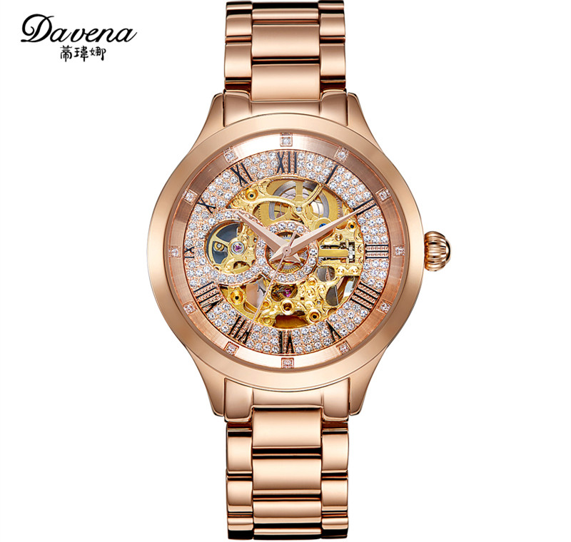 Brand Fashion Women Mechanical Watches Big Size Neutral Steel Wrist watch Automatic Self Wind Roman Dress Relojes Montre femme helga nõu kuues sõrm