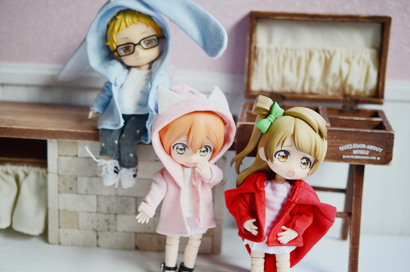 obitsu11ob11cu-poche doll coat for 1/12 bjd hoodie candie colors doll accessories for ob11 rabbit ear bear ears cat ears hoodie free shipping handmade doll clothes belt pants for obitsu11 ob11 cu poche 1 12 bjd doll accessories toys gift girl play house