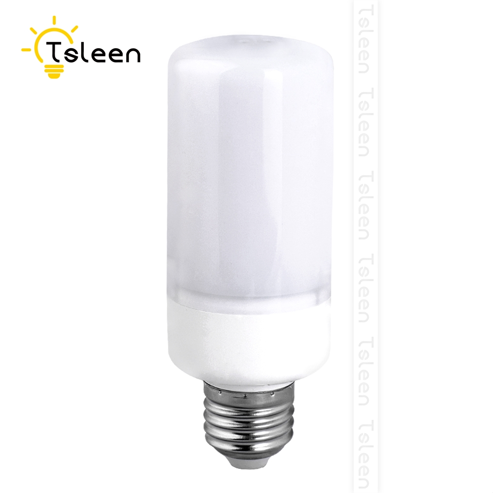 Tsleen Flickering Flame Fire LED Corn Bulb Dynamic Flame Effect Holiday Light E22 E14 B22 E26 5W Church Castle Lamps Replace