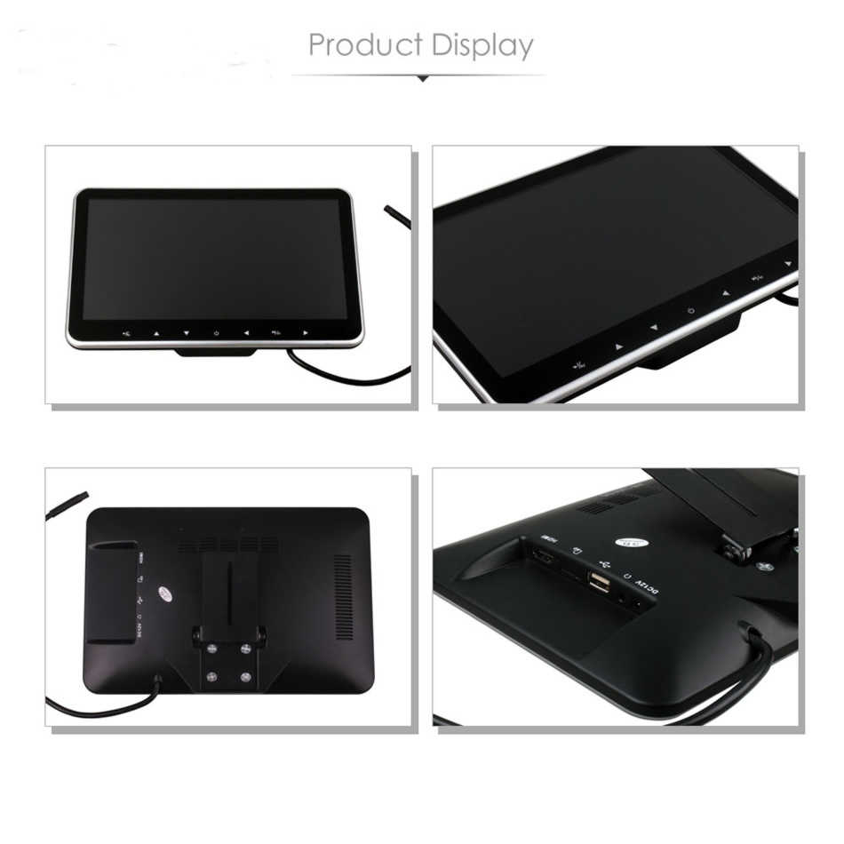 XST 10.2 Inç Ultra ince Araba baş dayama monitörü MP5 Oynatıcı HD 1080 P Video TFT Ekran Ile USB/SD /HDMI Yuvası/FM Verici/Hoparlör