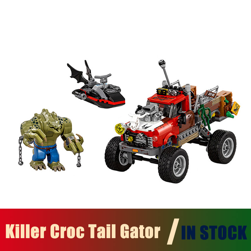 Compatible Lego batman 70907 Models Building Toy super heroes movie Killer Croc Tail Gator 07051 Building Blocks Toys & Hobbies super heroes batman decool blocks set mr freeze aquaman compatible with lego marvel models building toys