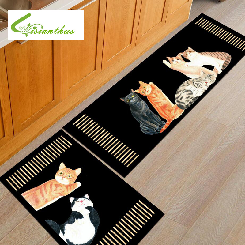 soft cartoon cats welcome floor mats animal print bathroom carpets