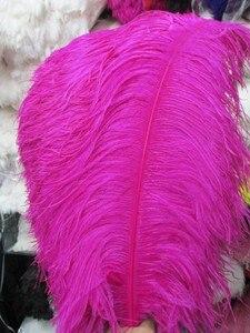 Image 4 - Оптовая продажа, 10 шт., качественные натуральные белые перышки страуса с большим полюсом, 45 50 см/18 20 дюймов, свадебные, карнавальные, сценические выступления