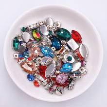 50pcs/Pack Mix shapes Mix colors silver claw setting nice glass crystal sew on rhinestone wedding dress shoes bags diy trim 6170 electronic diy 8mhz crystal oscillator silver 50 piece pack