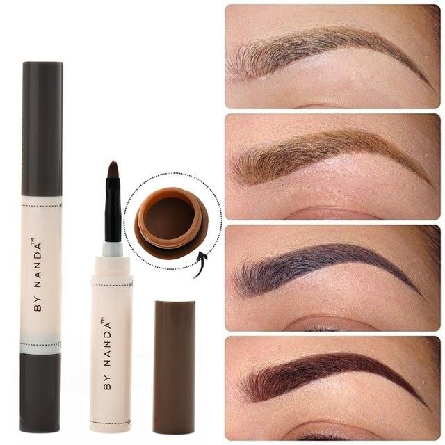 אופנה מקצועי עיניים גבות צבע קרם גבה עיפרון לאורך זמן אטים חינה גוון צבע חום להגדיר ערכת איפור