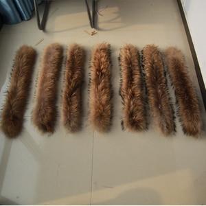 Image 5 - Winter Real Raccoon Fur Collar 100% Natural Raccoon Fur Scarf 70CM Fashion Coat Sweater Scarves Collar Neck Cap
