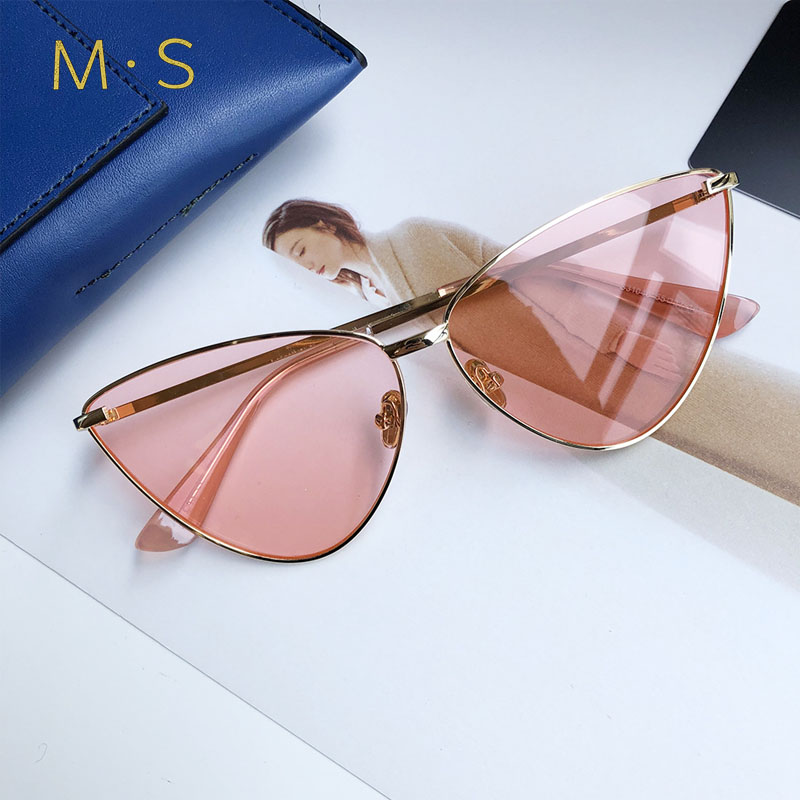 MS Women Sunglasses 2018 Luxury Decoration Classic Eyewear Female Sunglasses Original Brand Designer Sun Glasses Fashion  UV400 merry s women bang fashion sunglasses classic brand designer sunglasses vintage twin beam metal frame glasses s 8006