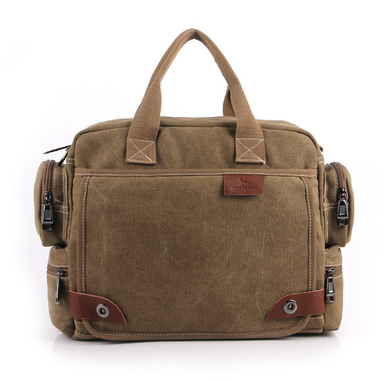 MANJIANGHONG Men Vintage Multifunctional Crossbody Bag Canvas Shoulder Bags Messenger Bag Men's Handbag business Tote Briefcase vintage crossbody bag dark khaki canvas shoulder bags men messenger bag man casual handbag tote business briefcase for computer