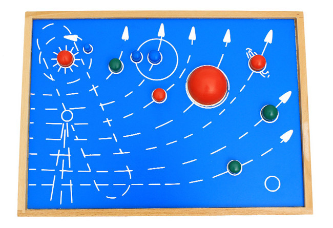 New wooden toy Montessori Nine planets panels Baby toy Free shipping in Blocks from Toys Hobbies
