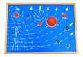 New wooden toy  Montessori Nine planets panels Baby toy Free shipping