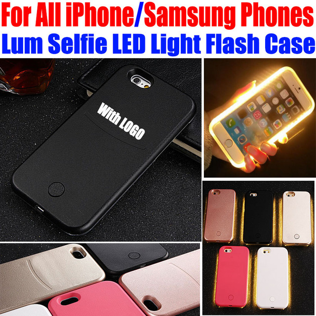 purchase cheap c47c9 cb910 US $340.48 |50X LED Light Case for samsung galaxy S7 edge S6 edge S5 Lum  Selfie Case for iPhone 7 Plus 6 Plus 6s 5S SE luminous IP655 on ...