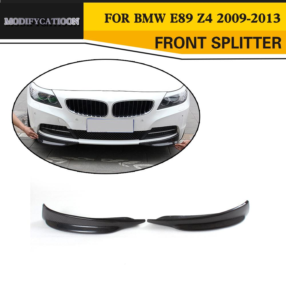 Bmw Z4 Splitter: Carbon Fiber Front Bumper Splitters Car Side Aprons For