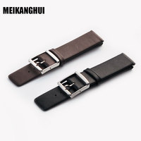 Watchbands Black Brown Genuine Leather Soft Watch Strap Pin Buckle Wrist Its Mens 2016 18 20mm