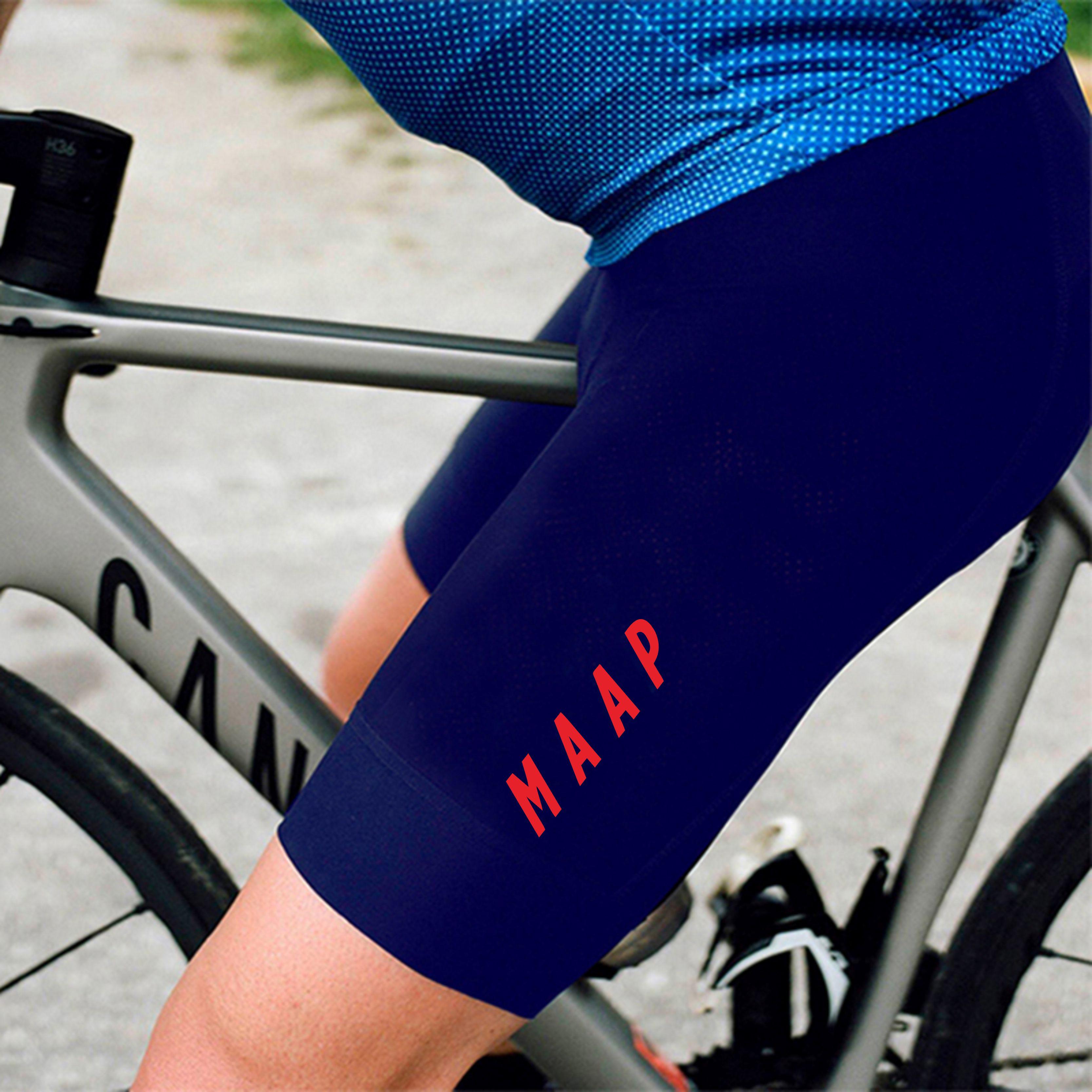 Triathlon cullote cycling culotes cortos ciclismo hombre MAAP summer pro team Navy blue bib shorts men mtb bike culote ciclismo in Cycling Bib Shorts from Sports Entertainment