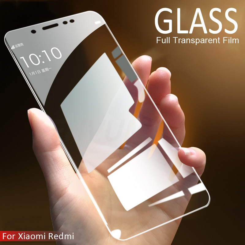 Protective Glass For Xiaomi Redmi 4 4A 4X 5A 5 Plus Tempered Screen Protector Glass on the Redmi 6 Pro 6A S2 Note 4 4X 5 5A Film(China)