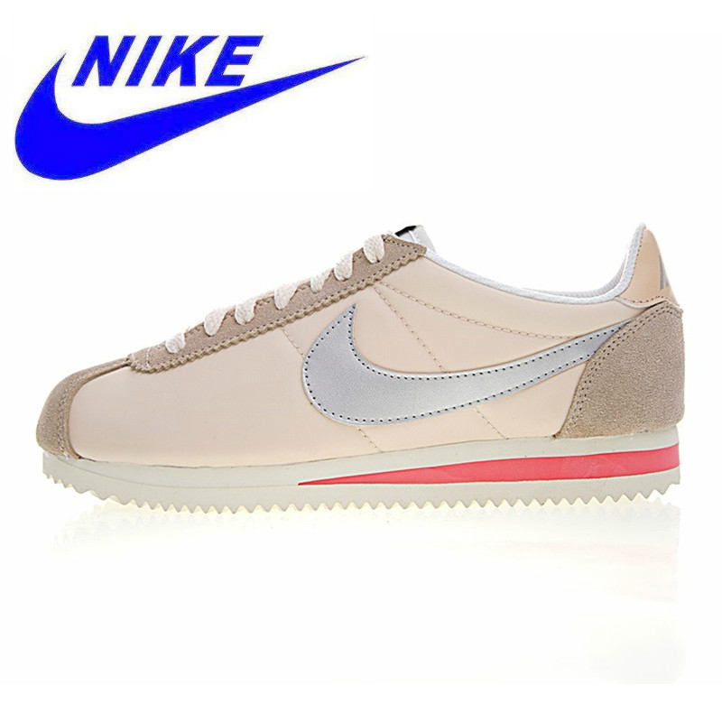 hot sale online 0ae9c dda2f Nike Classic Cortez Women s Running Shoes, Black Beige, Balance Lightweight  Support Sport Sneakers Shoes 807472-007 749864-801