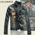 Джинсовые Куртки Мужчины Slim fit Vintage Мужские Куртки и Пальто высокое Качество Мода Повседневная Джинсы Куртки 2016 Новый Открытом Воздухе Джинсы Clothing