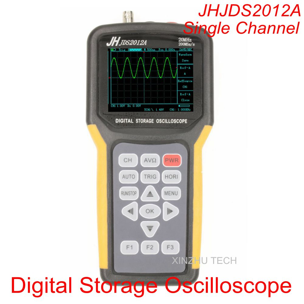 JDS2012A Handheld Digital Storage Oscilloscope Multimeter Single Channel 20MHZ Probe 200MSa/s JHJDS2012A Handheld Oscilloscope цена