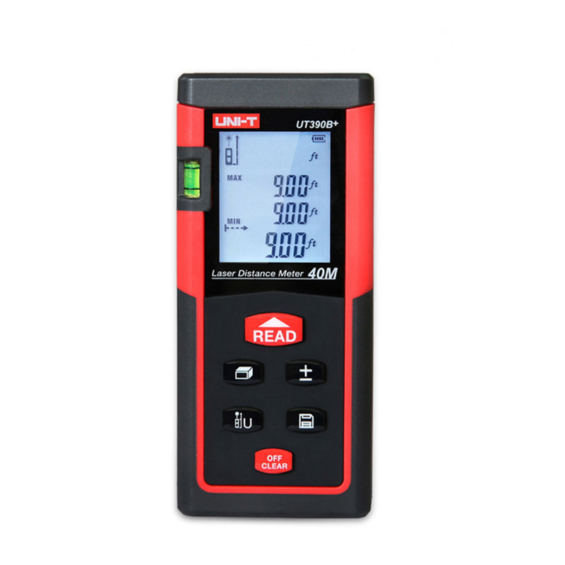 UNI-T UT390B+ Digital Laser Distance Meter 40M Bubble Level Rangefinder Range Finder Tape Measure Area/Volume Laser Rangefinder digital laser distance meter bigger bubble level tool rangefinder range finder tape measure 40m area volume angle tester