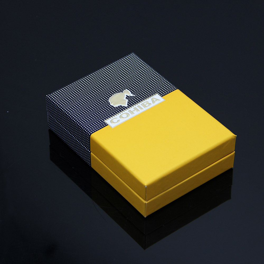 Cohiba Torch Lighter Triple Jet Flame With Cigar Punch Emas Daftar Perfore Silver Keychain Pembolong Cerutu Yellow Tahan Angin Tiga Api Logam W Kotak Hadiah Di