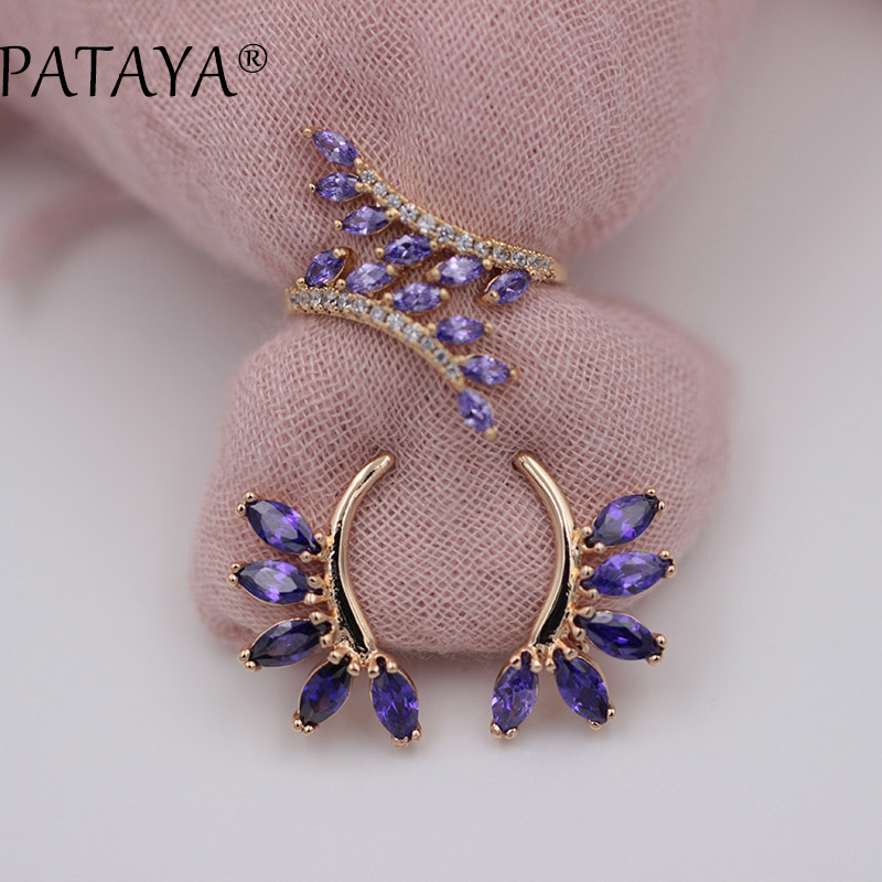 PATAYA New Arrivals Exclusive Purple Horse Eye Natural Zircos
