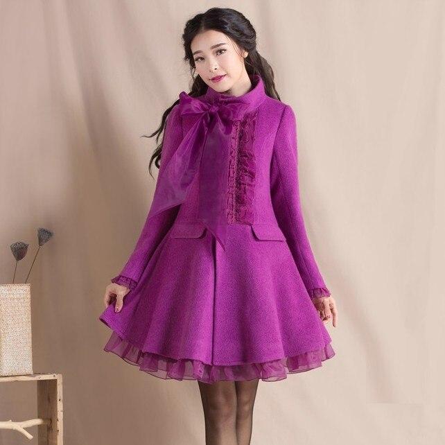 Original 2016 New Fashion Women's Autumn Winter Coat Stand Collar Elegant Slim Overcoat S 3XL Big Size Long Sleeve Outwear