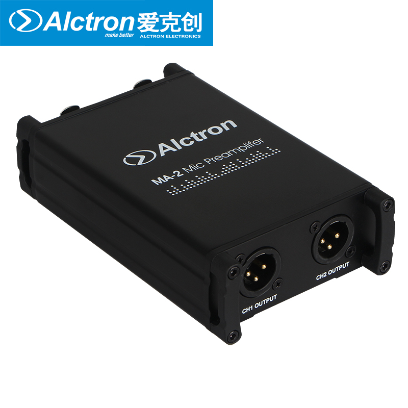 Alctron MA 2 Professional Mic Preamplifier Dual channel mic amp for ribbon and dynamic microphone