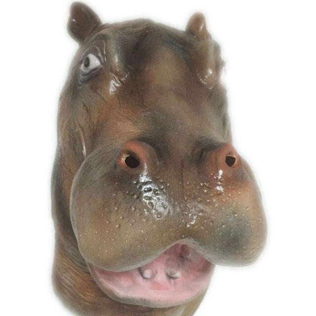 Halloween Effrayant Hippopotame Latex Masque Plein Visage Délicat