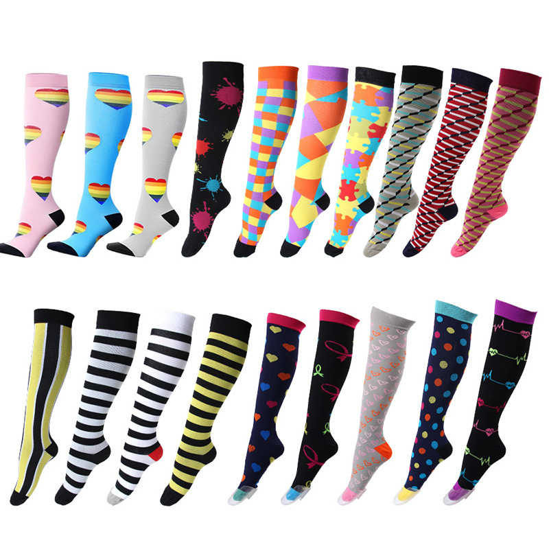 d1c1691d58 david angie Women Men Medical Compression Socks Pressure Varicose Veins Leg  Relief Pain Knee High Socks
