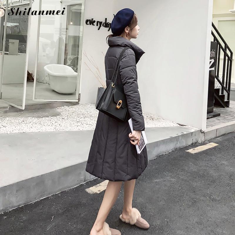 Long Dropship black Streetwear gray Femme Longues Mode Chaud Pardessus White Gris Parkas 2018 burgundy Coton Doux Manches Automne Hiver Épaississent green Off Manteau a7HvRq6
