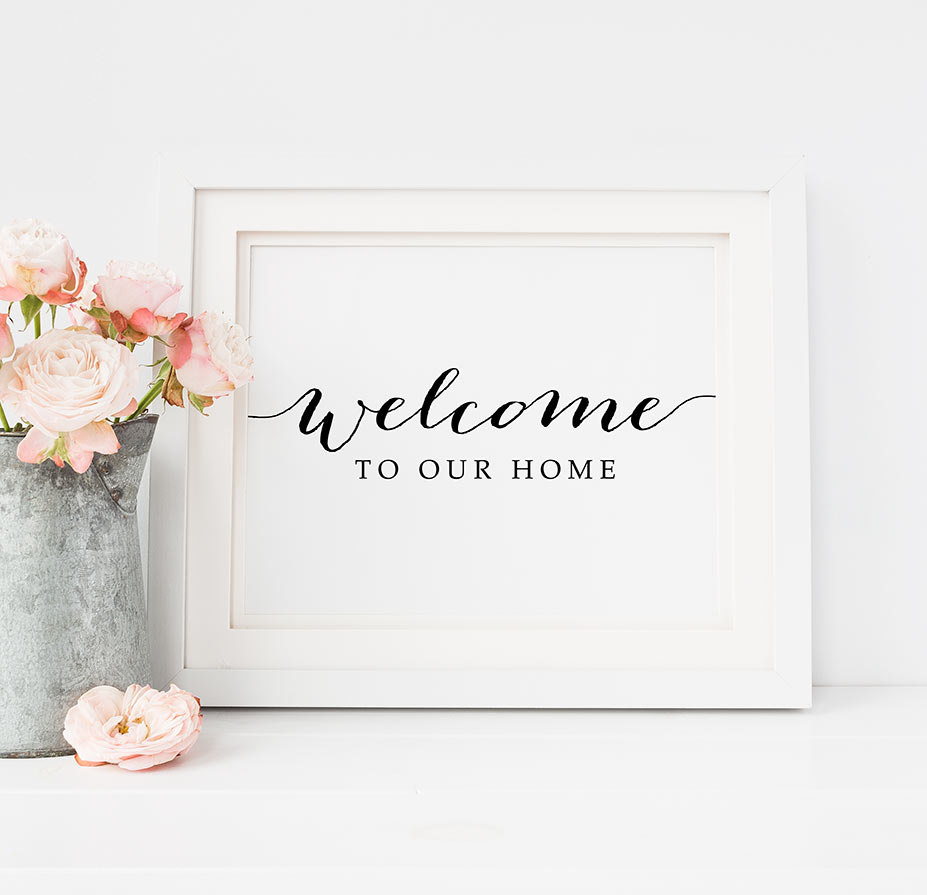Hot selling printable art welcome to our home art decal for How to sell home decor online
