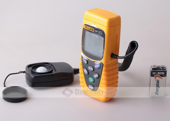 Fluke 941 digital lux meter F941 Light Meter Illuminance Tester mini digital lux meter light meter lux fc measure tester